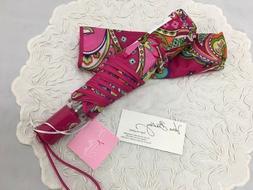 Vera Bradley Pink Swirls Automatic Umbrella For Purse Tote B