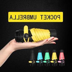 Pocket Umbrellas Mini Design Five-folding Rain Sun Anti Uv P