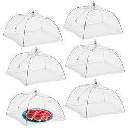 """6pk Pop-Up Outdoor Food Cover Umbrella 17"""" Mesh Tent Prote"""
