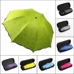Portable Compact Folding Umbrella Travel Daily Foldable Sun