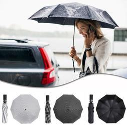 Portable Elegant 3 Folding Large Umbrella Automatic Inverted