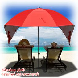 Red Portable Sun and Weather umbrella Shelter Sport or Beach