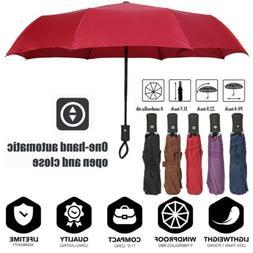Portable Windproof Travel Auto Umbrella Compact Folding Umbr