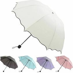 Portable Windproof Umbrella Anti-UV Sun Rain 3 Folding Compa