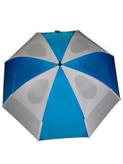 GustBuster Pro Series Gold Umbrella 62 Inch Blue/White