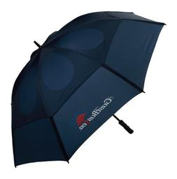 GustBuster Proseries Gold 62-Inch Golf Umbrella Navy