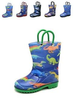 Storm Kidz Rain Boots Boys Prints Dinosaurs, Sports & More T