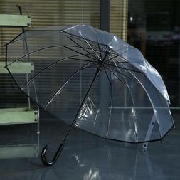 Good Quality Automatic Transparent Umbrella Men Women Kids F