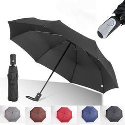Rain Umbrella Auto Open Close Folding Reverse Car Rain Anti-