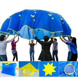 Rainbow Parachute Kids Sports Development Outdoor Umbrella B
