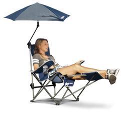 Sport-Brella Recliner Chair:  3-Position Recliner W/ Full Co