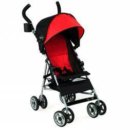 RED UMBRELLA toddler STROLLER Kolcraft EXTENDED CANOPY up to