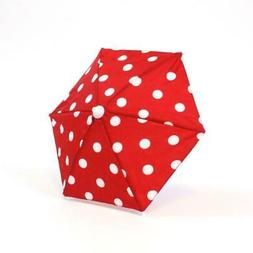 "Red w/ White Polka-Dot Umbrella made for 18"" American Girl D"