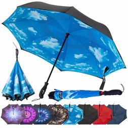 Repel Reverse Folding Inverted Umbrella with Teflon Canopy