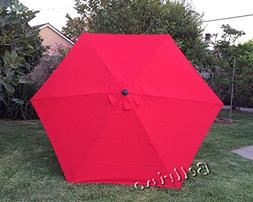 """BELLRINO DECOR Replacement RED """" STRONG & THICK """" Umbrella C"""
