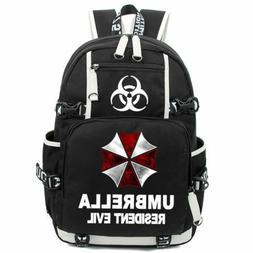 Resident Evil Luminous Backpack Umbrella Schoolbag Glow Book
