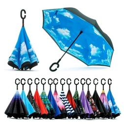 Reverse Folding Umbrella Double Layer Inverted Umbrella Wind