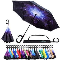 Reverse Inverted Inside Out Umbrella - Upside Down UV Sun Pr