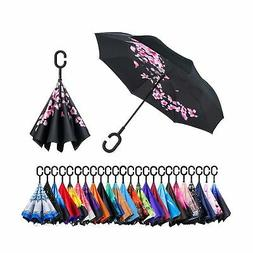 Newsight Reversible Umbrella – Dual Layer Inverted Umbrell
