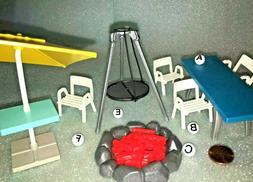 S~9818~CHOOSE 1 PLAYMOBIL Dollhouse Patio Furniture