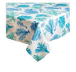 Seahorse Ocean Coral Print Zippered Umbrella Tablecloth