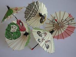 Set of 5 Japanese Hand-made Kasa Multi-Pattern Mini Umbrella
