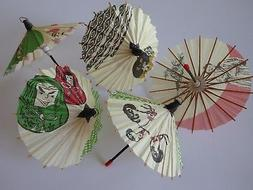 Set of 5 Japanese Hand-made Kasa Multi-Pattern Mini Umbrella