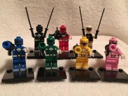 SET OF 7 POWER RANGER MINI FIGURES-BRAND NEW ASSEMBLED W/ACC