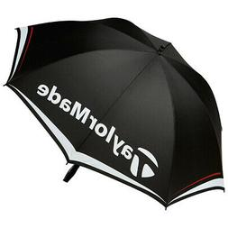 "New TaylorMade 60"" Single Canopy Golf Umbrella Black/White/C"