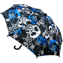 RainStoppers Boy's Skull Print Umbrella, 34-Inch
