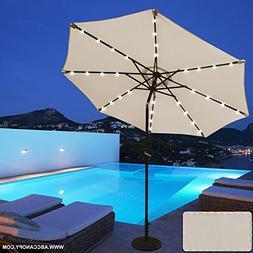solar powered patio umbrella 32led
