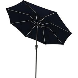 Sunnydaze Solar Sunbrella Patio Umbrella w/Push-Button Tilt