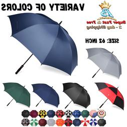 Sports Golf Oversize Umbrella Double Canopy Vented Windproof