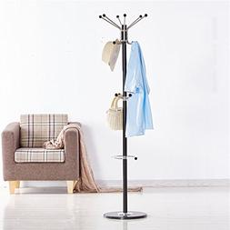 Stainless Steel Coat Rack Move The Marble Material European
