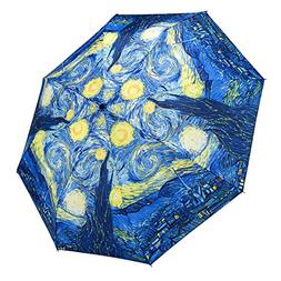 Galleria Starry Night Fold Umbrella Unbreakable Mini Travel