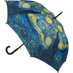 Galleria Starry Night Stick Umbrella - Starry Nights Umbrell