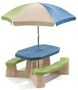 Step2 Kids Picnic Table Naturally PLayful Includes Durable 6