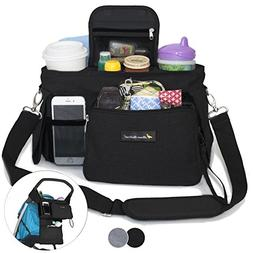 BEST STROLLER ORGANIZER WITH CUP HOLDERS - Universal Fit - P