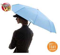 Sturdy Heavy Duty Windproof Compact Travel Umbrella Fold In