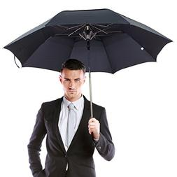 Lejorain Sturdy Folding Golf Umbrella 50inch Windproof Vente