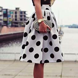 Summer Style Skirts Retro Puff Bodycon Polka Dot Umbrella Sk