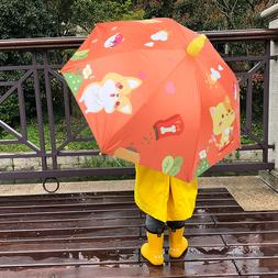 Sun Rain Protection Children Kids Umbrella Long Handle for O