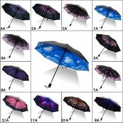 Sun/Rain Umbrella Three-folding Windproof Durable Woman Men