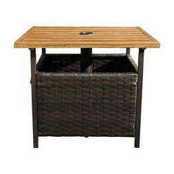 SunLife Outdoor Patio PE Rattan Wicker Bistro Table Base Sta