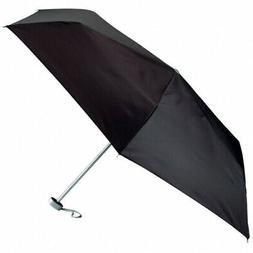 Super Mini Compact Weather Umbrella Black 40in Small Purse T