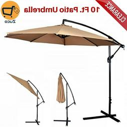 FDW Patio Umbrella Offset 10' Hanging Umbrella Outdoor Marke