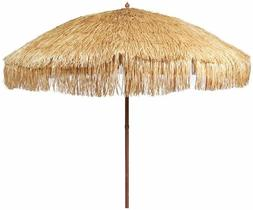 thatched tiki beach umbrella 6ft pool sun
