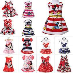 Toddler Kids Baby Girls Summer Mini Dresses Cartoon Skirt Pa