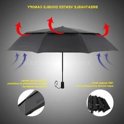TOMSHOO Unisex Auto Open/Close Umbrella  Large Vented Double
