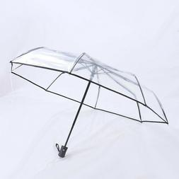 Transparent Automatic Open Close Windproof & Water-Resistant
